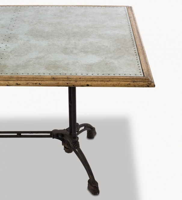 Table, zinc top
