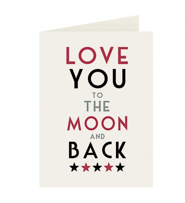 Card, Love you to the Moon and back