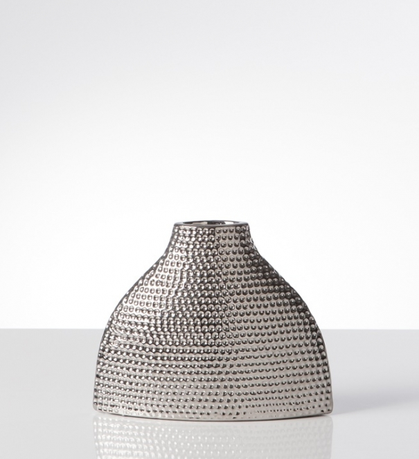 Vase, Helio Hammered Ceramic Silo - Short