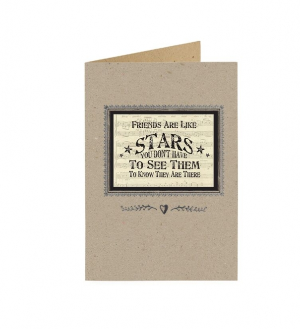 Card, Friends are like stars