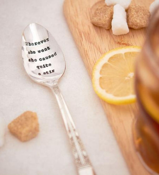 Vintage Silver Teaspoon - Wherever she went