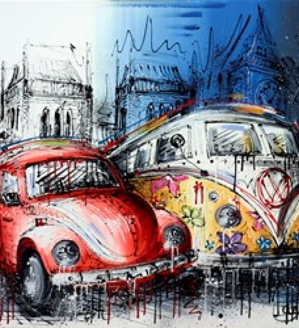 Beetle & Camper - SOLD