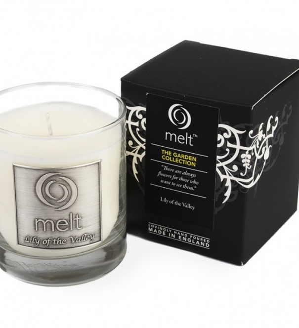 Melt Candle, Lily of the Valley: Luxury Glass